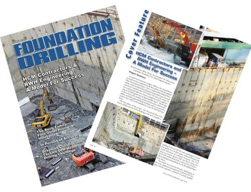 HCM Contractors and RWH Engineering – A Model for Success / Foundation Drilling Magazine – April 2015