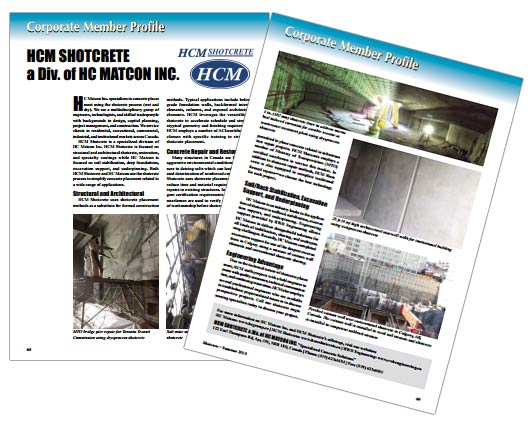 HCM Shotcrete Profile - Shotcrete Magazine